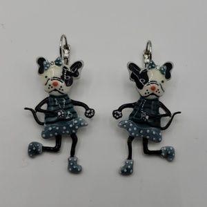 Whimsical French Bulldogs earrings